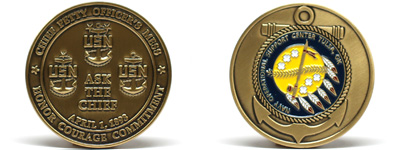 Customized Navy Coins