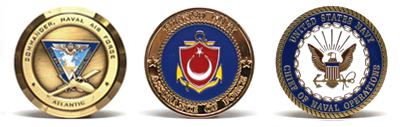 Customized Navy Challenge Coins