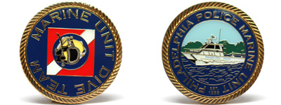 Customized Police Fire EMS Coins